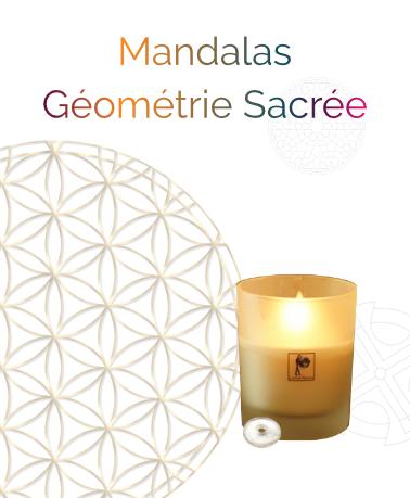 Coffret Mandala en géométrie sacrée - mandala - La Bougie Qui Fait Du Bien