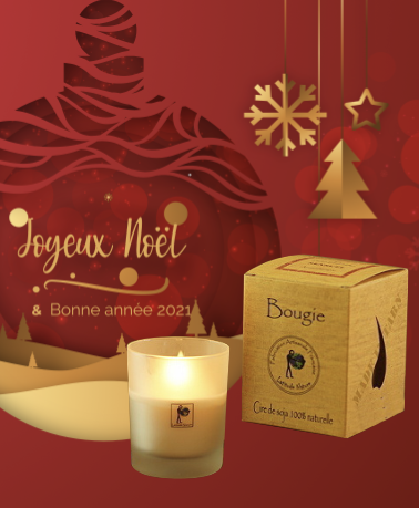 """Bougie parfumée 100 % naturelle - Senteur """"Epices de Noël"""" - bougie - La Bougie Qui Fait Du Bien"""